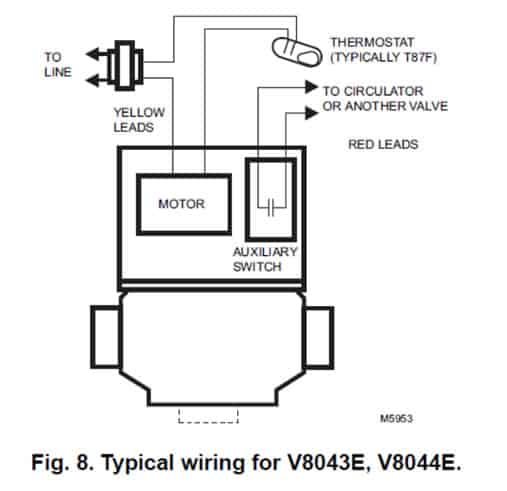 wiring diagram for zone valve