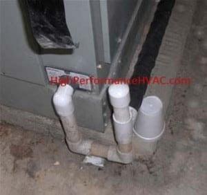 Air Handler Condensation Drain Leaking Hvac Repair