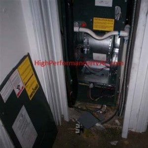 Inside Air Handling Unit Blower Compartment