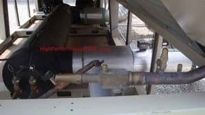 Chiller Evaporator Barrel for a smalled air cooled chilled water system