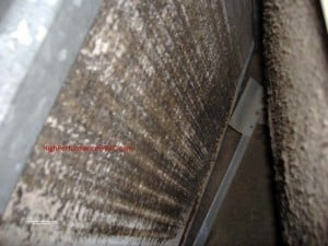 Evaporator Coils Dirty And Ice On Air Conditioner