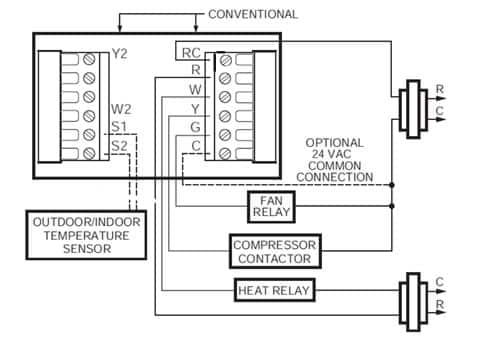 2 Stage Thermostat Wiring Diagram on york heat pump thermostat wiring