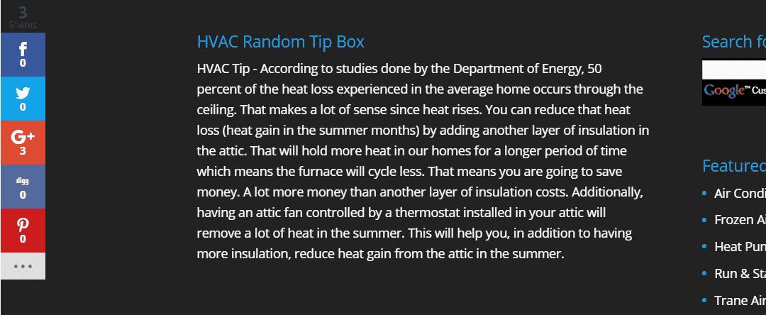 HVAC Random Tips