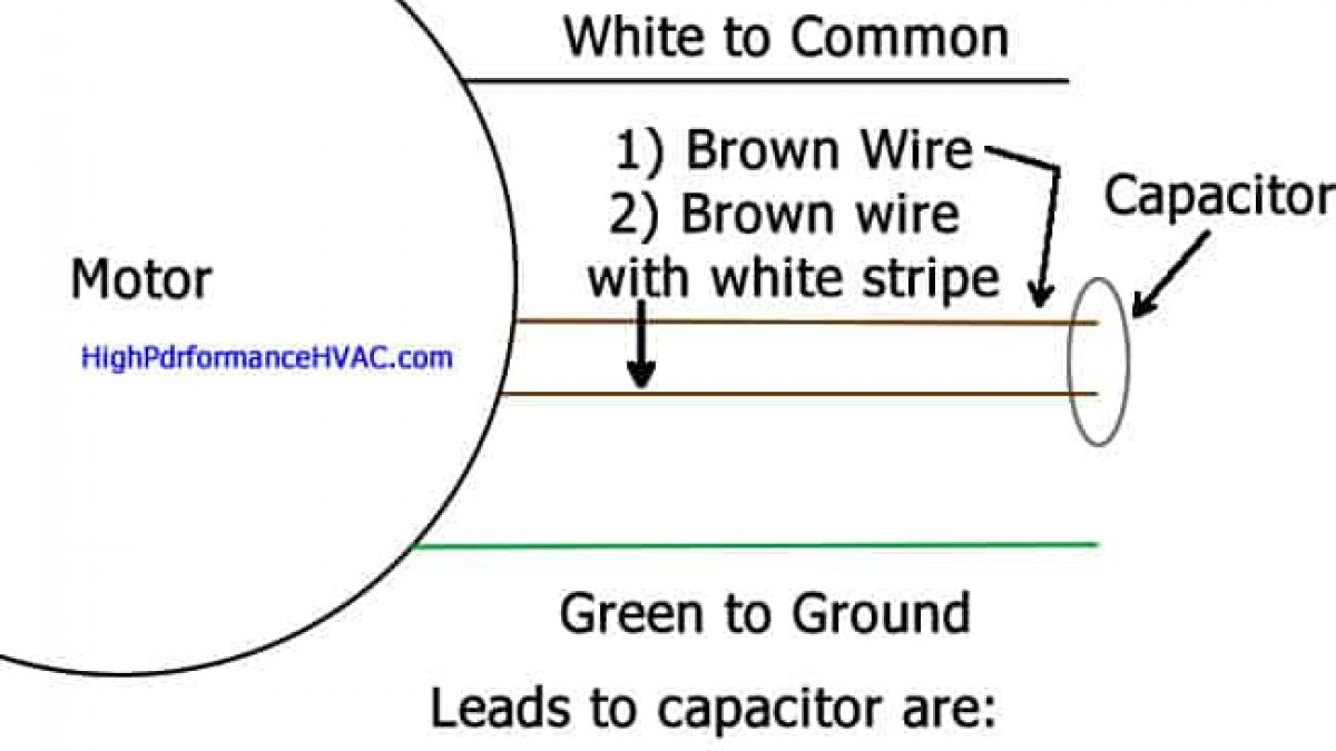 capacitor wiring how to wire a run capacitor to a motor blower   condenser wiring capacitor wiring to compressor diagram wire a run capacitor to a motor blower