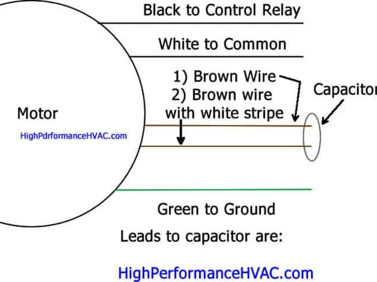 [DVZP_7254]   How to Wire a Run Capacitor to a Motor Blower & Condenser Wiring | Ac Fan Wiring Diagram Hvac |  | High Performance HVAC
