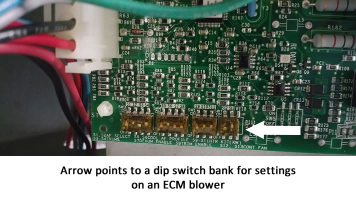 Variable-Speed ECM Dip Switch Settings