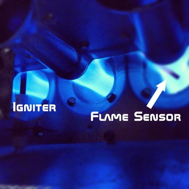 flame sensor burner compartment