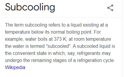 subcooling definition